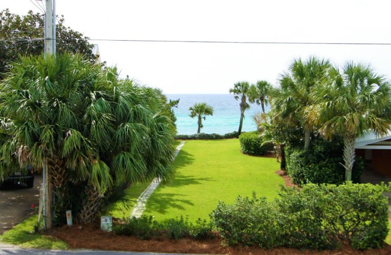 Gulf View From Second Floor Balcony