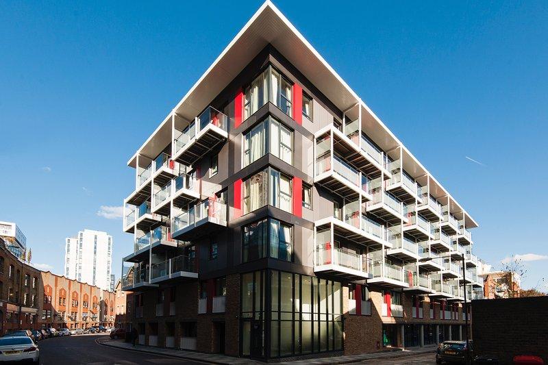 Apartment building in quiet street