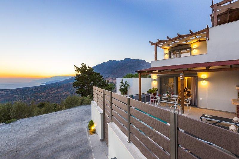 Brand new villa located in a small quiet village close to unique Cretan beaches