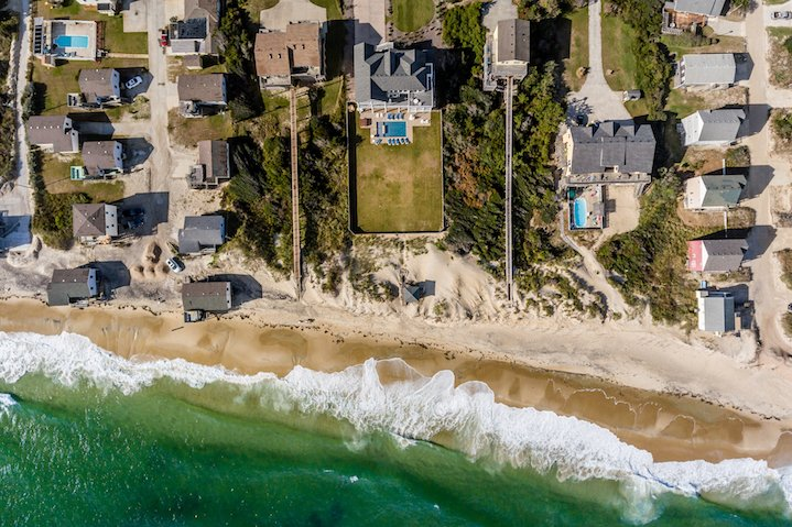 Aerial View of Beach King