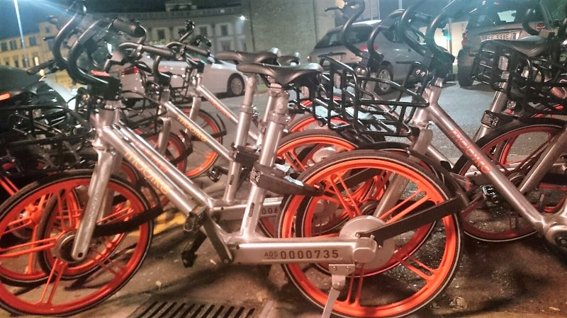 Mobike sharing park (bike sharing) - 30metres far away the apartment