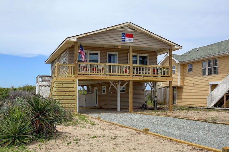 magnolia cottage at holden beach has parking and ocean views rh tripadvisor com