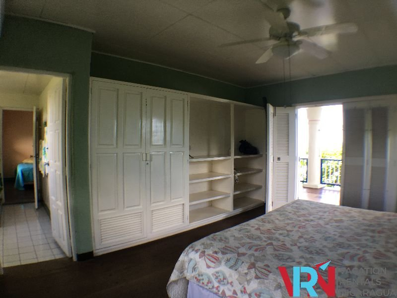 bedroom with built-in cabinets