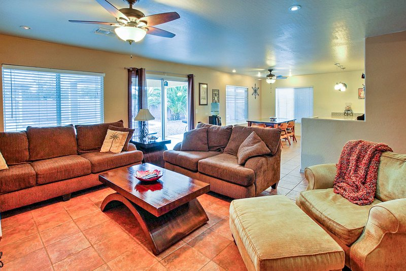 Cette maison 2175 pieds carrés est parfait pour un voyage mémorable en famille et entre amis.