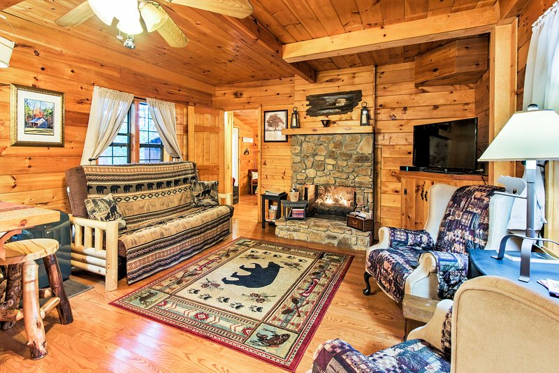 This unique vacation rental home awaits in the Pigeon Forge area!