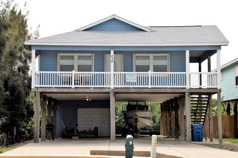 Edificio, cabaña, cubierta, porche, Casa