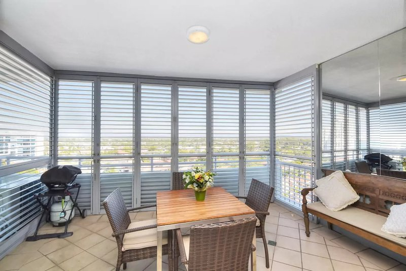 The veranda room with mountain and sea views. Shutters can fully retract or black out.
