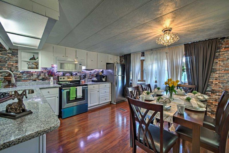 7 gelukkige gasten zullen krijgen om hun vakantie door te brengen in dit onlangs gerenoveerd huis.