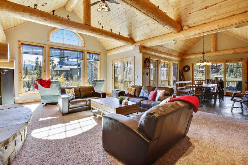 Lupine Lodge is a gorgeous log home ready for your next family vacation