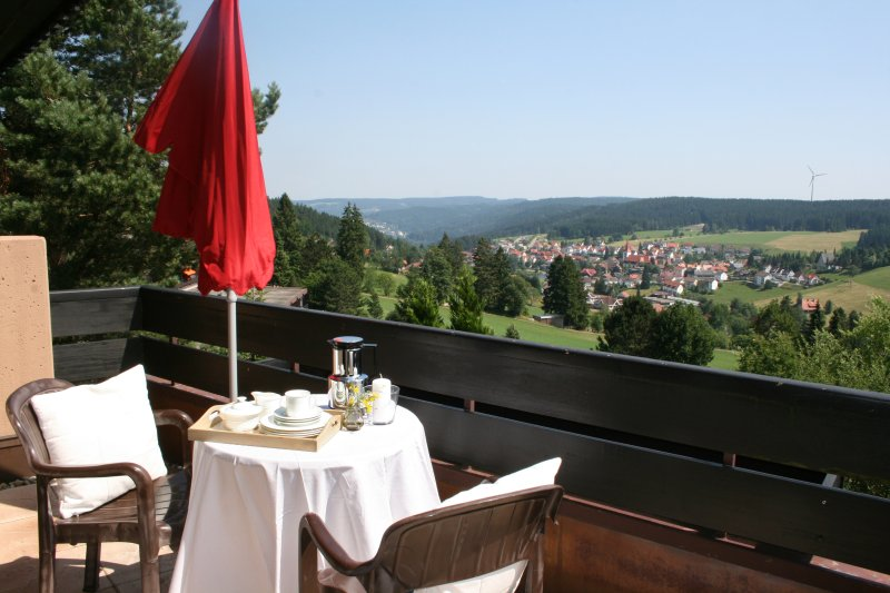 Balcony with panoramic views of Schonach and the Black Forest mountains