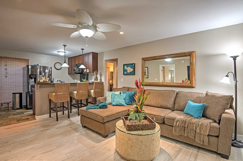 Hang loose at this newly remodeled vacation rental condo in historic  Lahaina!