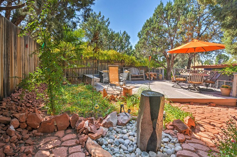 This Arizona haven is just steps from scenic trails and minutes from Sedona.