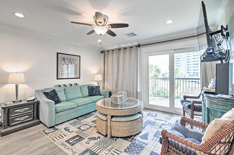 Escape to the seaside by booking this 3-bedroom, 3-bathroom vacation rental condo in Galveston!