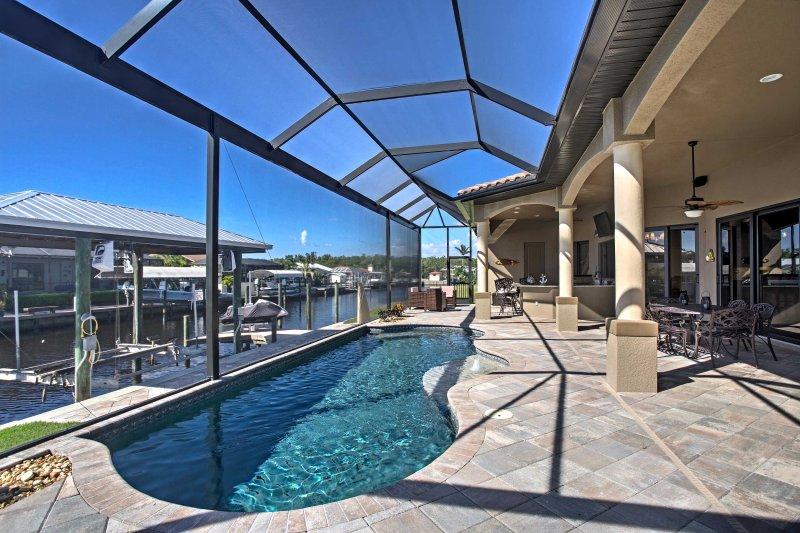 Toma el sol cuando te quedas en esta casa de alquiler de vacaciones.