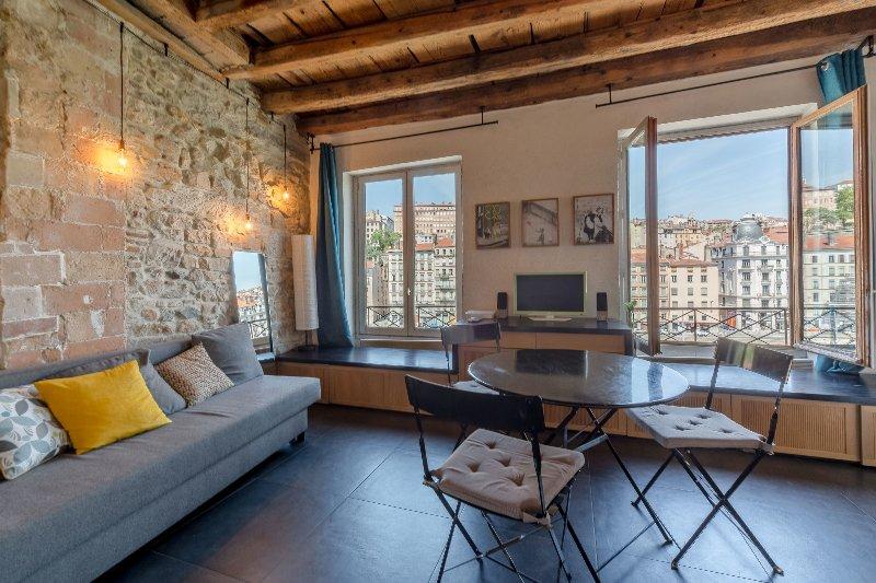 Splendide appartement avec vue sur la Saône, location de vacances à Lyon