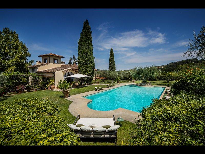 Villa, vista da piscina