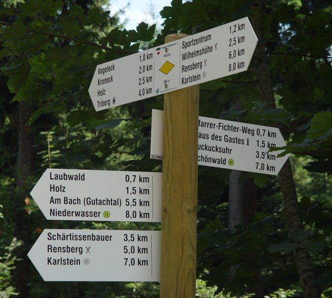 Muchas rutas de senderismo comienzan justo detrás de la casa.
