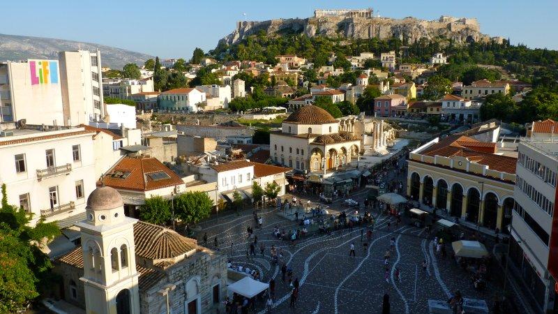Monastiraki square is 10 minutes away