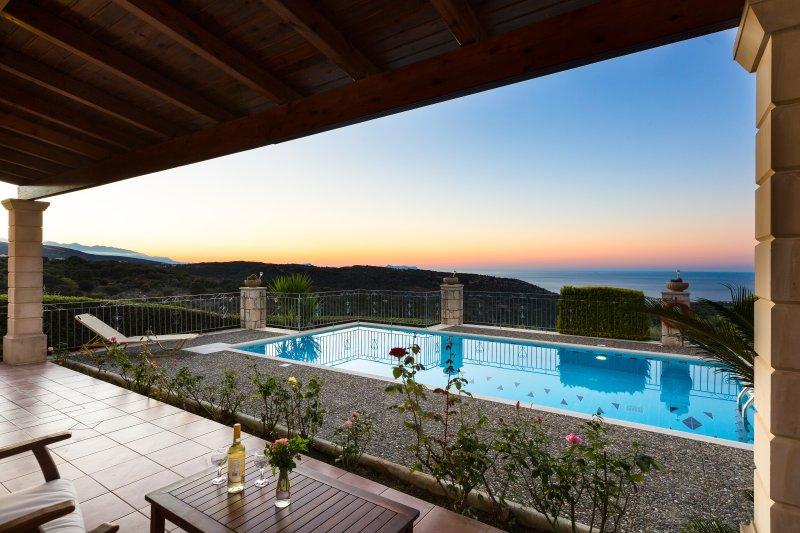 Belvedere Villas - Villa Argiro, Panoramic Views, Close to Beach & City, holiday rental in Prasies