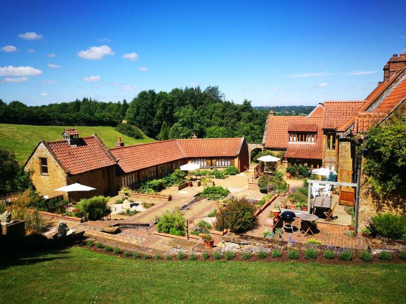 Heath Farm overview from top garden.