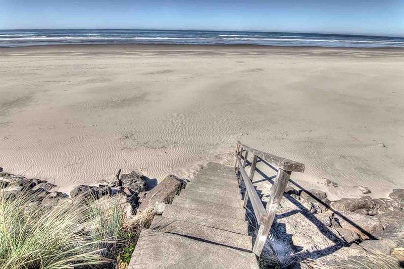 Escada para a praia