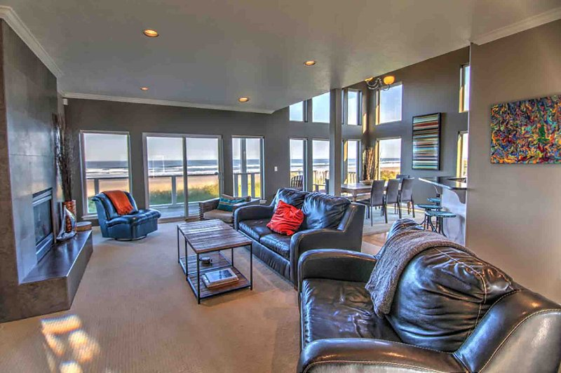 An incredible view from everywhere in this beautifully furnished home.