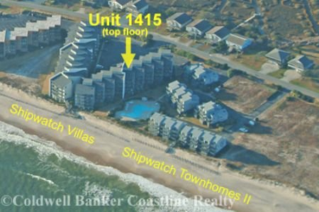 Aerial view showing location in Shipwatch Villas