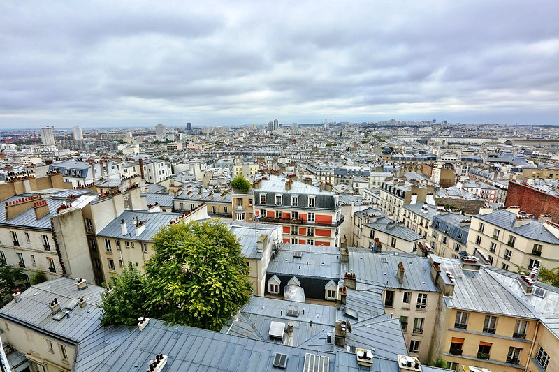 Incredible panoramic view of Paris from the living room window