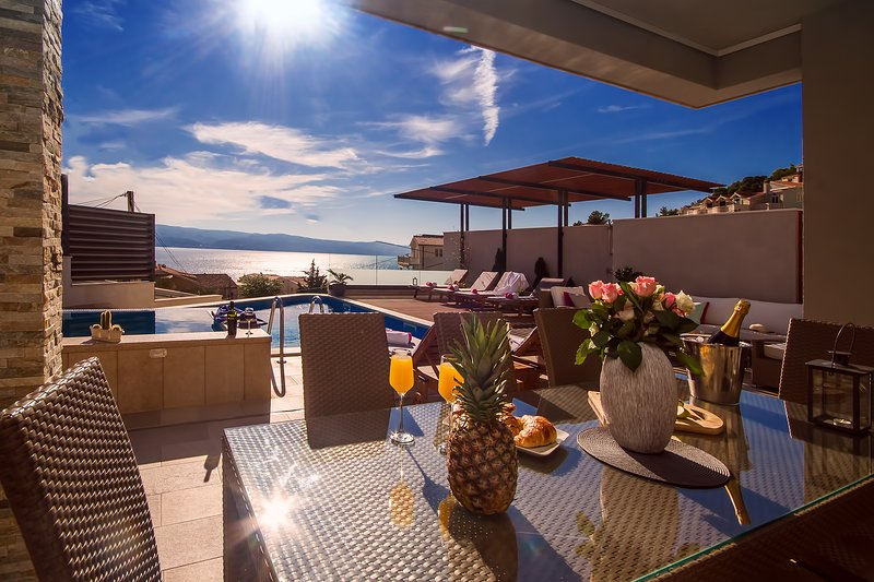 Amazing sea views from every corner, sandy beach is only 120m far