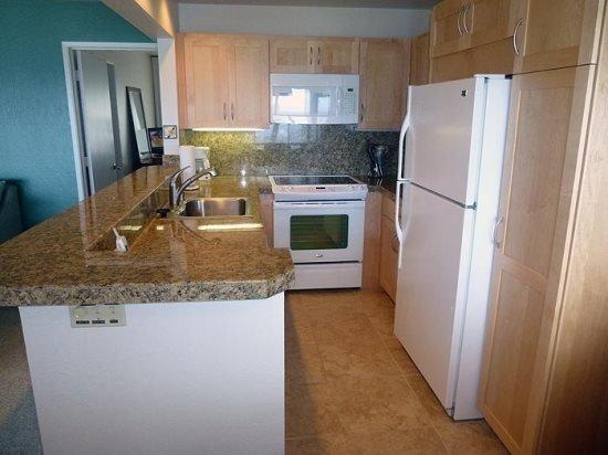 Die Küche ist komplett ausgestattet, hausgemachte Mahlzeiten zubereiten!