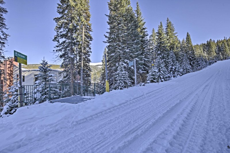 Spend your days shredding slopes at the nearby resorts.