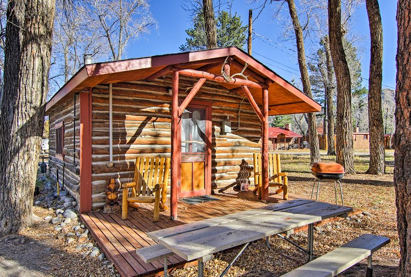 Elevate your outdoor retreat at this vacation rental studio in the heart of the Rockies, Buena Vista.