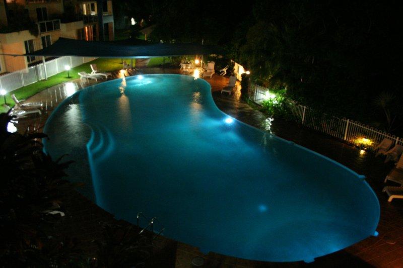 night-time pool