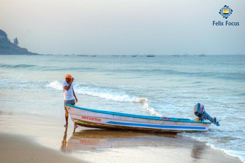 Pêcheur à la plage Candolim