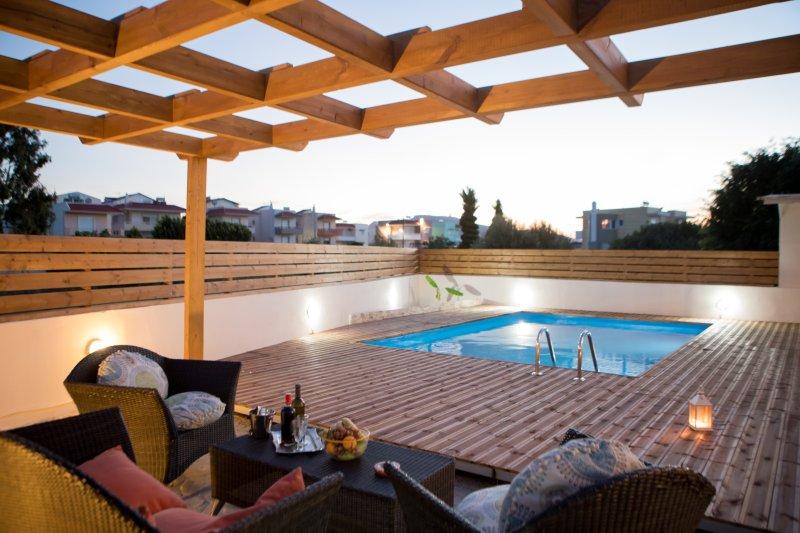 VILLA STERGOS Luxury -Rhodes Island GREECE, location de vacances à Petaloudes