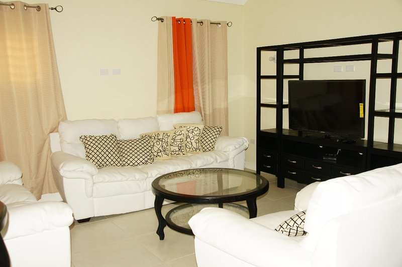 Nuestra espaciosa habitación abierta de Planificación de la sala de estar y comedor