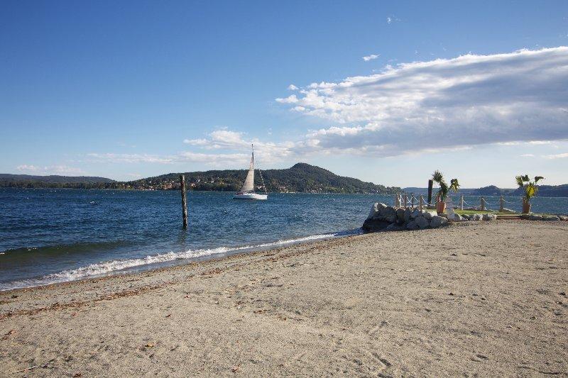 Erno beach in Lesa