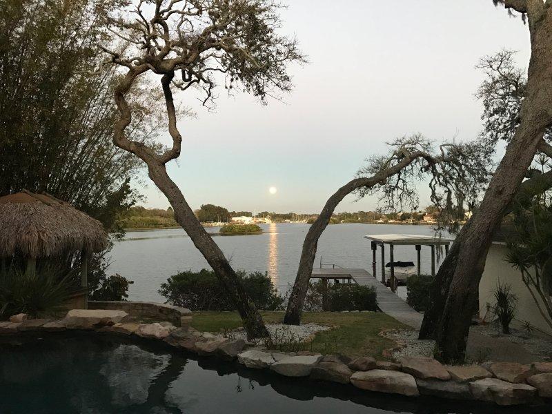 The Super Moon at Dolphin Cove Villa