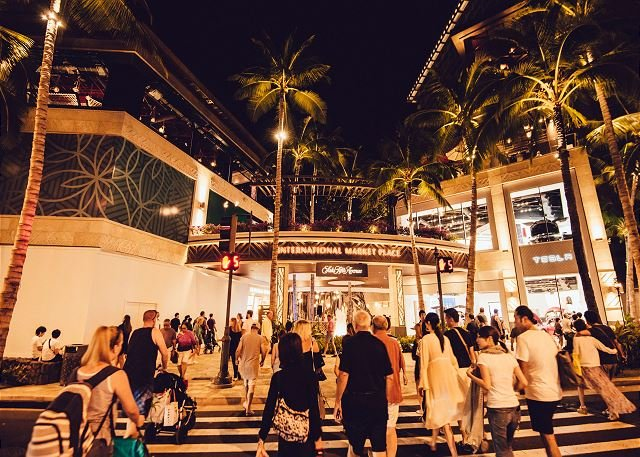 Lugar de comercialización de entrada en Kalakaua Ave