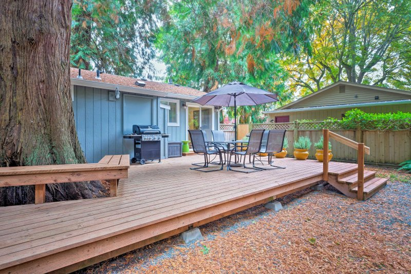This scenic home among giant cedars rests just 15 minutes from Langley!