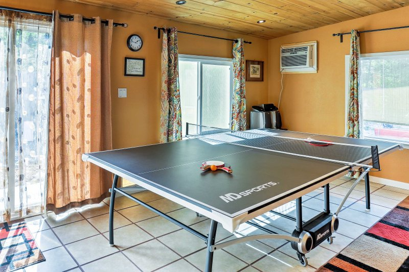 Get in touch with your competitive side as you dominate a game of ping-pong!