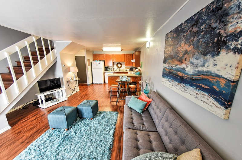 An open-concept living space welcomes you in this Fairbanks vacation rental apt!