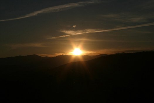 Zon over de Smokies aan de Southern Sunrise