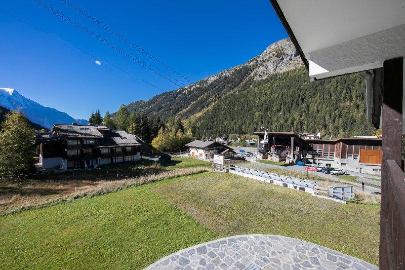 Blick vom Balkon - Grand Montets Skilift