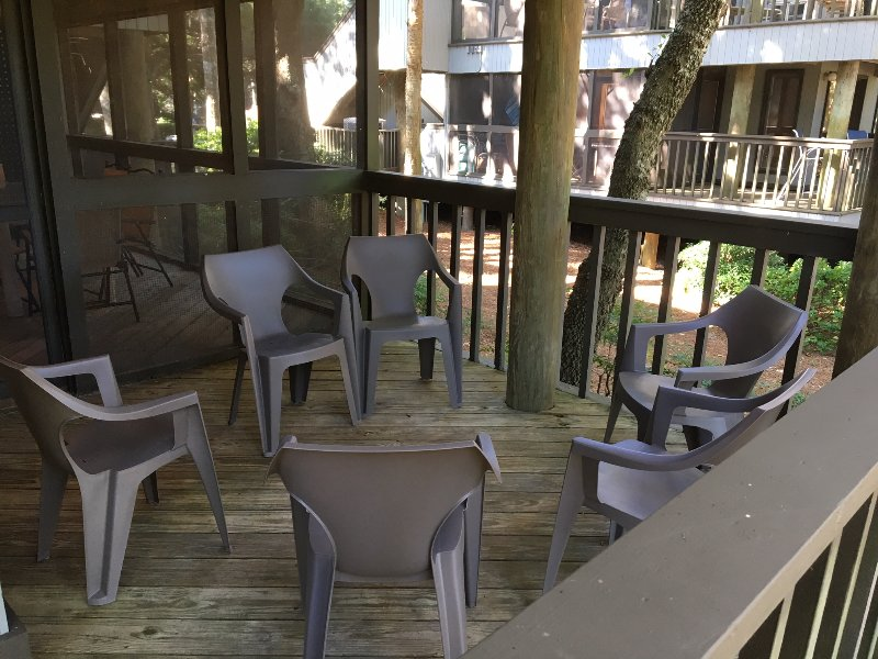 View of Back Deck and  Screened-in Porch beyond