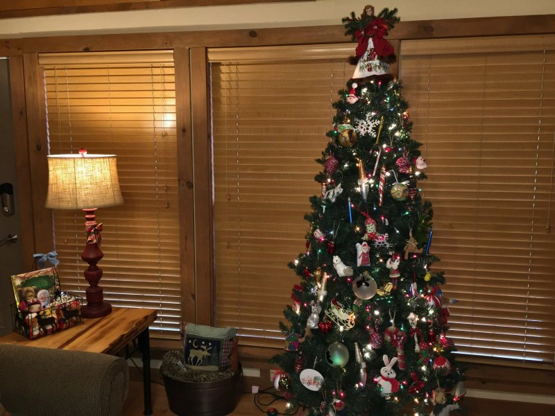 Christmas tree in Living Room area