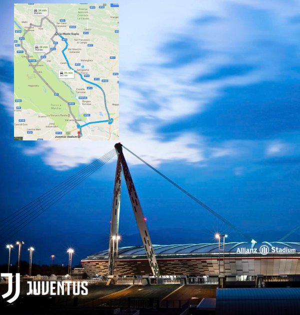 Juventus stadium vicinity