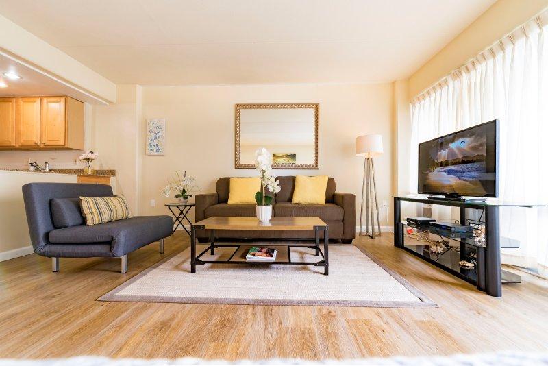 Lindamente projetado e condomínio confortável