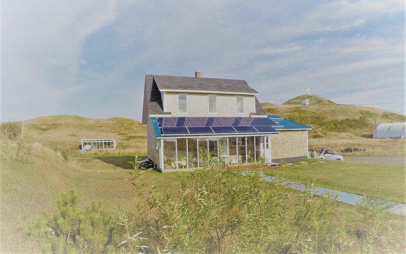 Solarhaus - Wohnung zur Miete oben