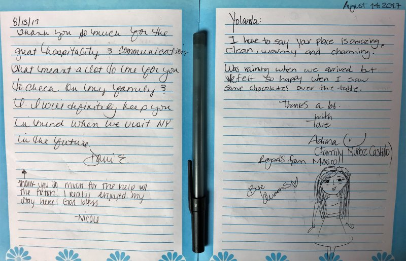 Guestbook comments.
